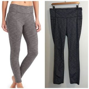 Athleta High Waist Full Length Dark Gray Leggings